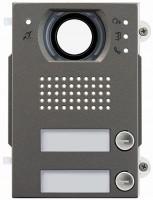 Pixel Heavy Audio/Video-Frontplatte, 2 Klingeltasten, IK10, IP54, Teleloop