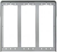 Pixel Regenschutzrahmen, 6 Module (3x2), grau