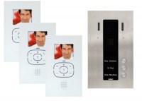 Guinaz KDV753 Dreifamilien Videosprechanlagen-Set, mit Bildspeicher