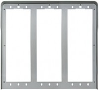 Pixel Regenschutzrahmen, 6 Module (3x2), Alu eloxiert