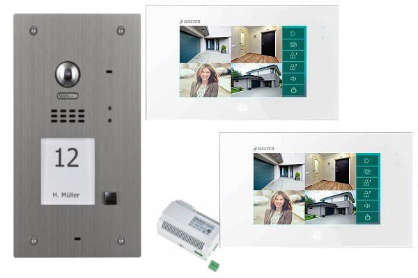 2-Draht-Videosprechanlage-Set_1-Familienset_edelstahl_Balter-Juno7