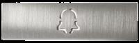 Abdeckung für eine Ruftaste einer DoorBird D21x Video Türstation, gebürstetes Edelstahl, Glockensymb