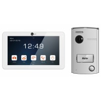 "NeoLight 2-Draht Video-Türsprechanlage mit 7"" Touchscreen-Monitor + Türstation mit 120°"