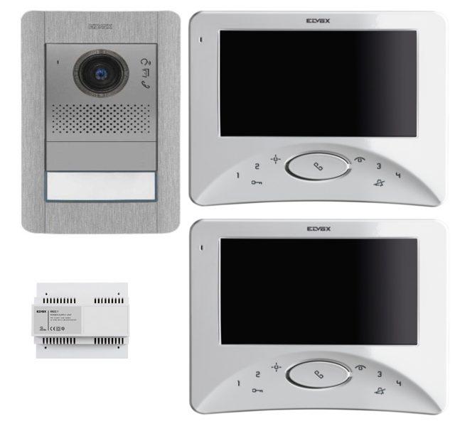 elvox 2 draht komplettset videot rsprechanlage. Black Bedroom Furniture Sets. Home Design Ideas