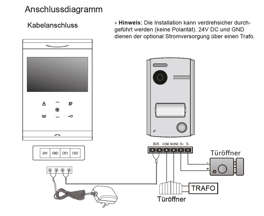 2-Draht-Video-tuersprechanlage-Schema