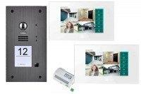 2-Draht BUS Videotürsprechanlagen Set für ein Einfamilienhaus