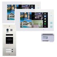 Elogoo 2 Familien 2 Draht RFID Video Türsprechanlage Komplettset