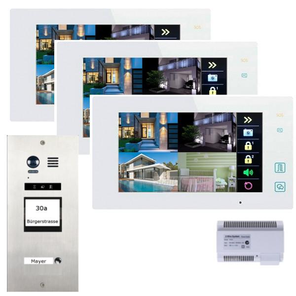 elogoo 2 draht videosprechanlage komplettset. Black Bedroom Furniture Sets. Home Design Ideas