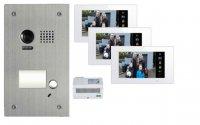 Video Türsprechanlagen-Set für ein 1 Familienhaus 2 Draht Technik