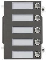 Pixel Heavy Tasten-Frontplatte, 5 Klingeltasten, IK10, IP54