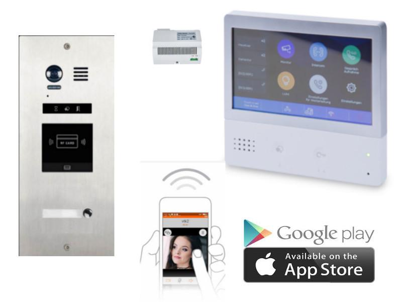 2 draht videosprechanlage mit handy app anbindung neu. Black Bedroom Furniture Sets. Home Design Ideas