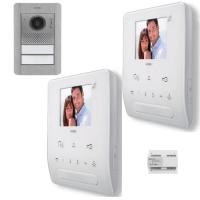 2-Draht Video Türsprechanlagen Set für ein 2 Familienhaus