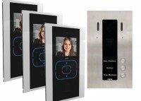 Guinaz KDV753 Dreifamilien Videosprechanlagen Set, mit Bildspeicher