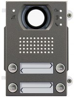 Pixel Heavy Audio/Video-Frontplatte, 4 Klingeltasten 2-reihig, IK10, IP54, Teleloop