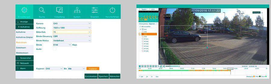 HD-TVI Komplettset - einfache Bedienung - App Steuerung