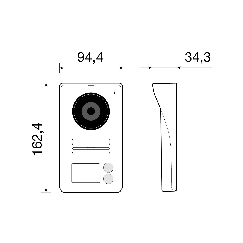 2-Familien-Video-T-rsprechanlage-K40916-Touchscreen-7-Zoll-Monitor-HD-Display-2-Draht-Technik-120-Weitwinkel-T-rstation-36-Monate-Garantie-Abmessung-T-rstation
