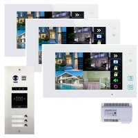 Elogoo 3 Familien 2 Draht RFID Video Türsprechanlage Komplettset