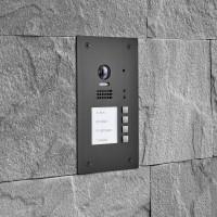 BALTER EVIDA Graphit RFID Edelstahl-Türstation für 4 Teilnehmer