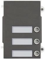 Pixel Heavy Tasten-Frontplatte, 3 Klingeltasten, IK10, IP54