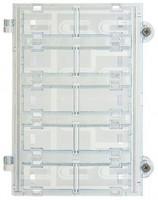 Due Fili Plus Ruftastenmodul mit 10 Tasten (2-reihig), weiáe LED-Beleuchtung