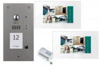 Videotürsprechanlage 2-Draht BUS Komplettset für ein Einfamilienhaus