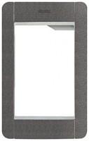 Pixel Rahmen und Abdeckrahmen, 1 Modul, schiefergrau