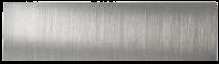 Abdeckung für eine Ruftaste einer DoorBird D21x Video Türstation, gebürstetes Edelstahl, nicht gravi