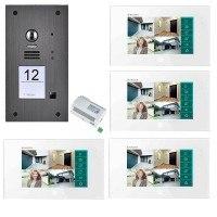 2-Draht Video-Türsprechanlagen Set für ein Einfamilienhaus