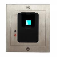 Fingerprint / Unterputz / Edelstahl / 1 abgesetztes Schaltrelais