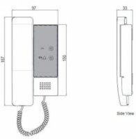 Audiostation für 2 Draht Bus Sprechanlage
