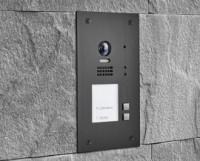 BALTER EVIDA Graphit RFID Edelstahl-Türstation für 2 Teilnehmer